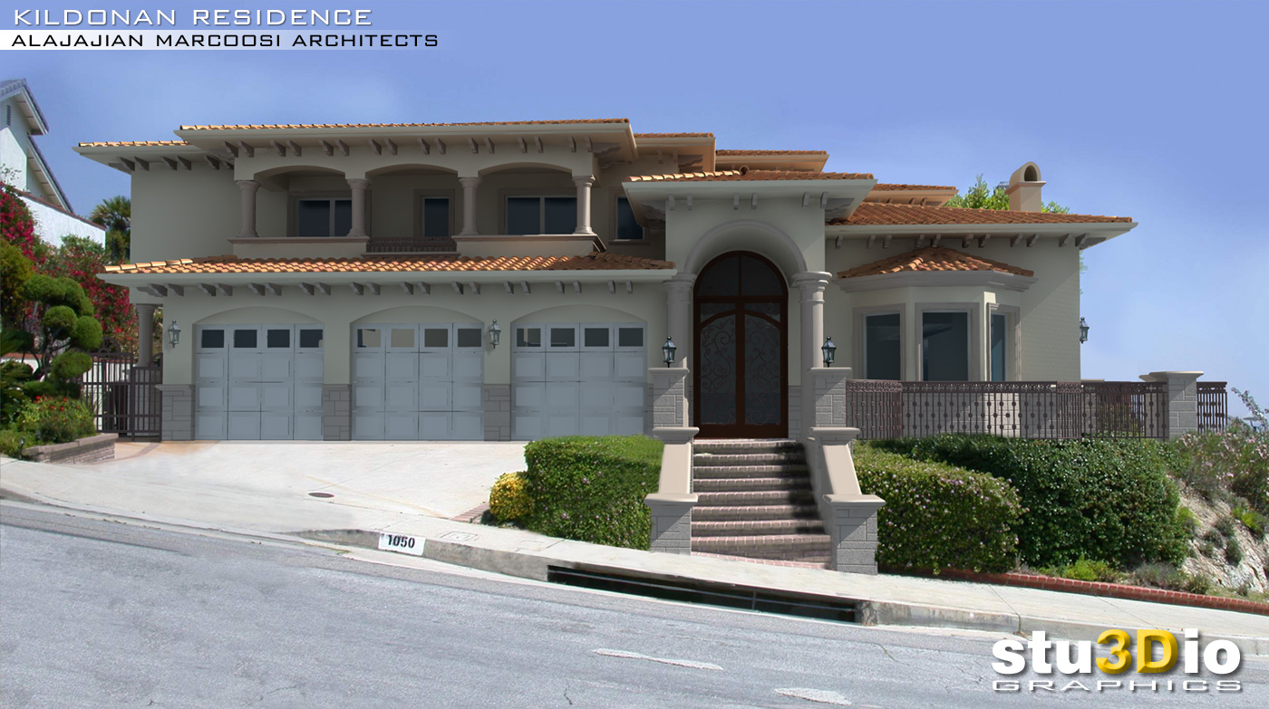 3D rendering of a house in Glendale